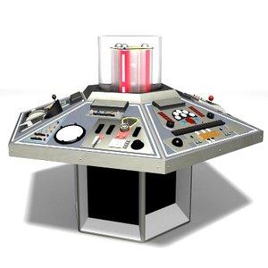 tardis console doctor 1982 3d model