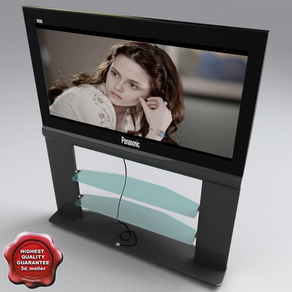 tv panasonic viera 3d model