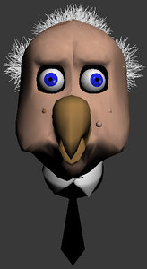 free cartoon bird 3d model