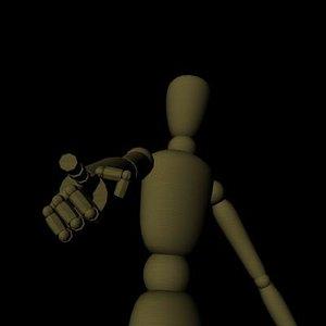 simple wooden man 3d model
