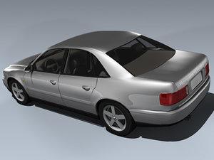 2001 audi a8 sedan 3d model
