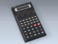 scientific calculator 3d model