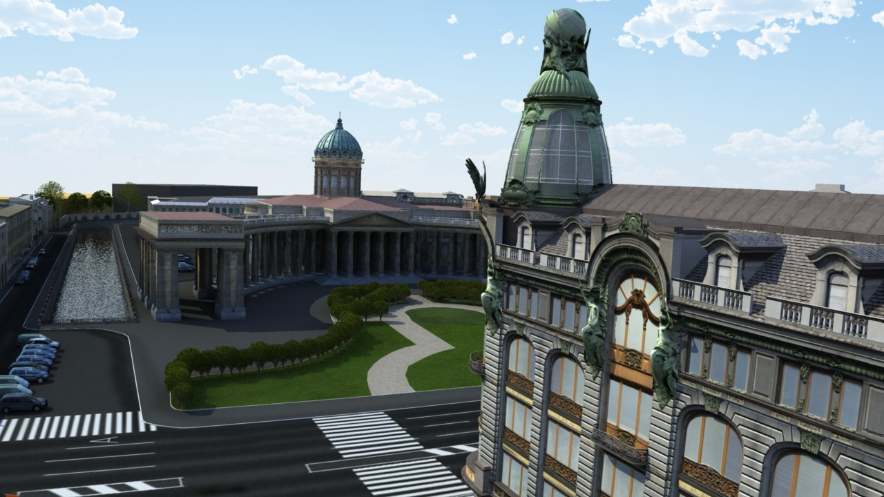square kazan 3d model