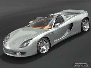 porsche carrera sport 3d model