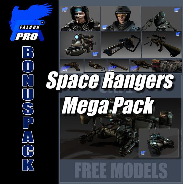 space rangers mega pack 3d model