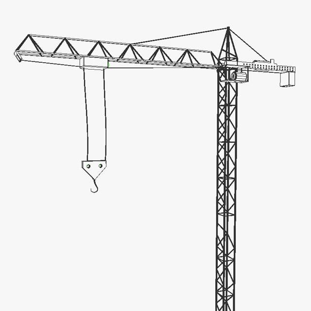 tower crane construction 3d model