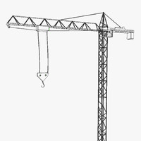 tower crane construction 3d model