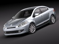 renault fluence 2011 sedan 3d model