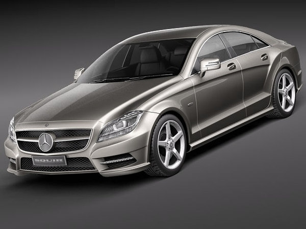 mercedes cls 2012 luxury 3d model