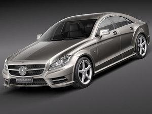 mercedes cls 2012 luxury 3d model