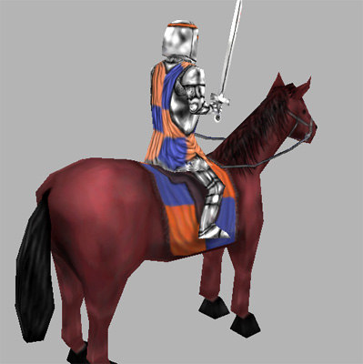 middle cavalry horse 3d model