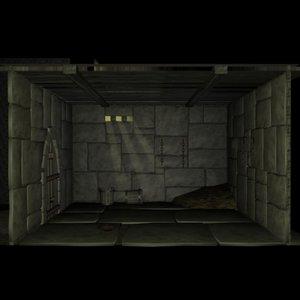 medieval jail 3d model