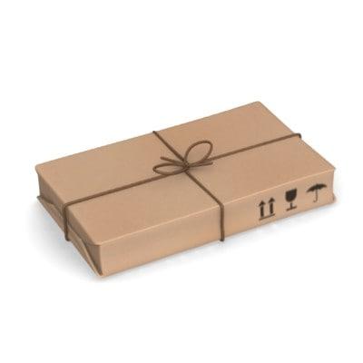 post package 3d model