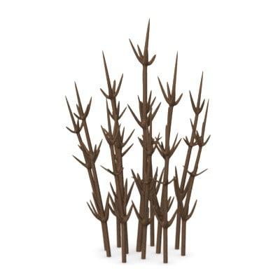 dead desert plant 3d model