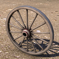 wagon wheel 3d model