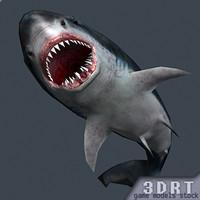 shark jaws 0 3d model