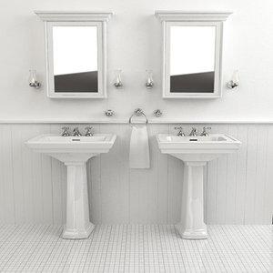 classical sinks 3d model