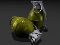 frag grenade 3d model