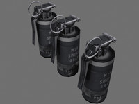 gray smoke grenade 3d model