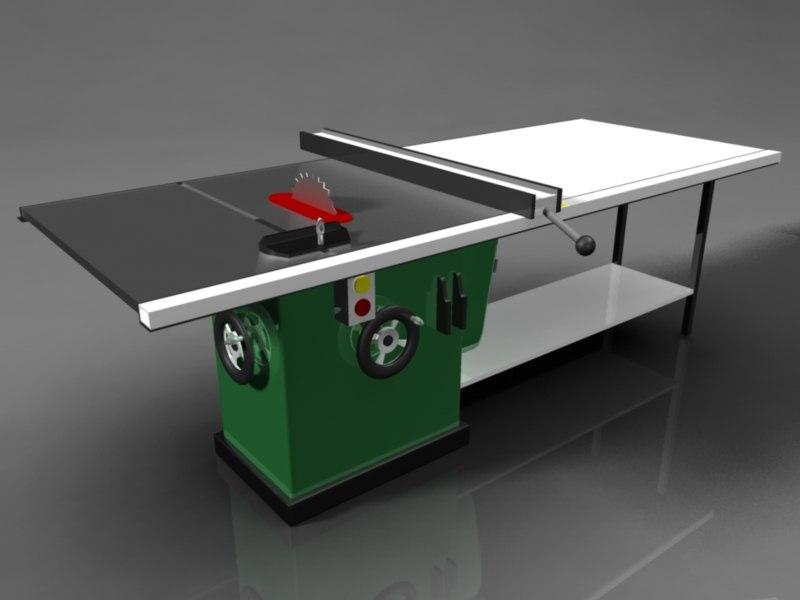 woodworking tablesaw workshops 3d model
