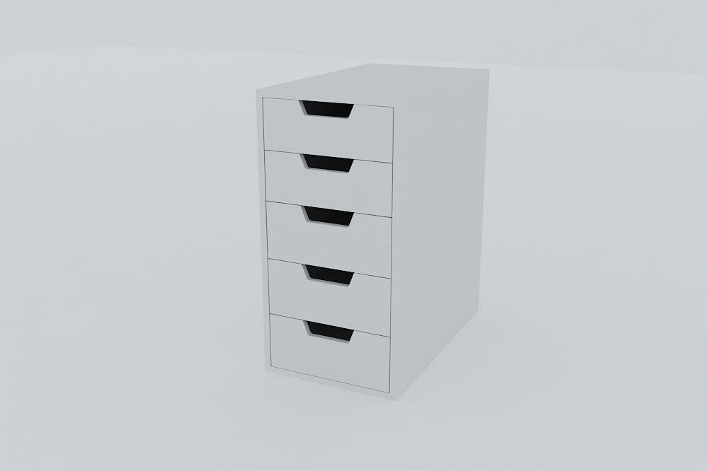 drawer unit vika alex 3d model
