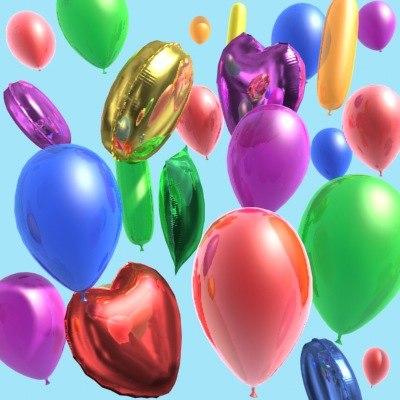 balloons ballons 3d model
