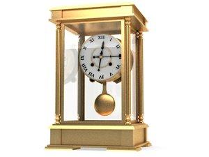 clock old classic 3d model