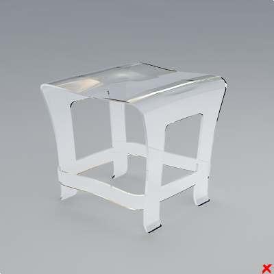 chair stool 3d model