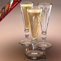 glass champagne 3d model