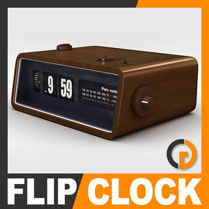 retro style radio alarm 3d model