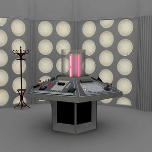 set 1982 doctor tardis 3d model