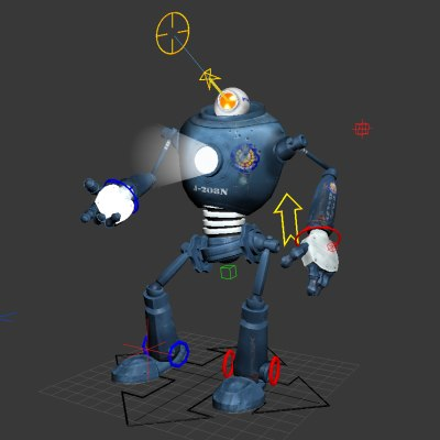robot rigged max free