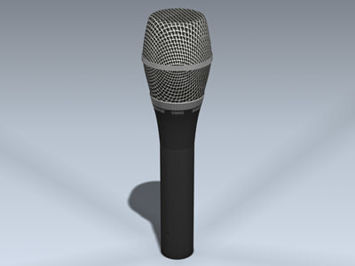 shure sm86 vocal microphone 3d model
