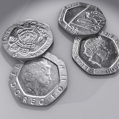 british pence 3d model
