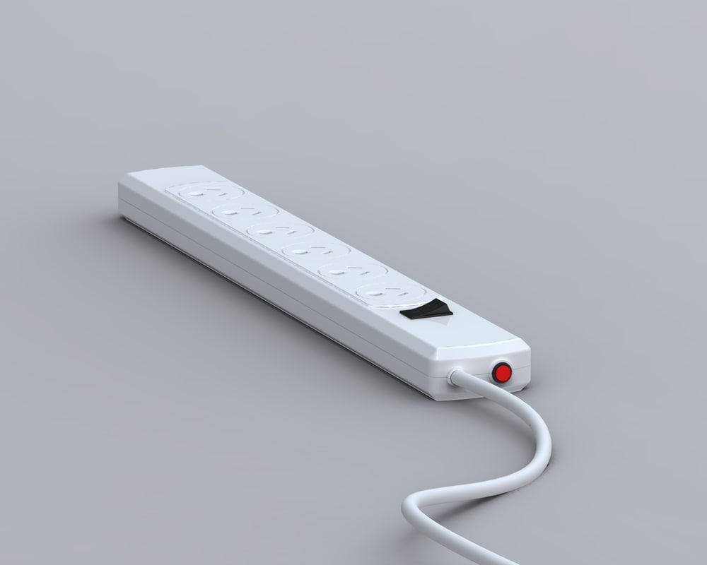 power adapter australia nz 3d model