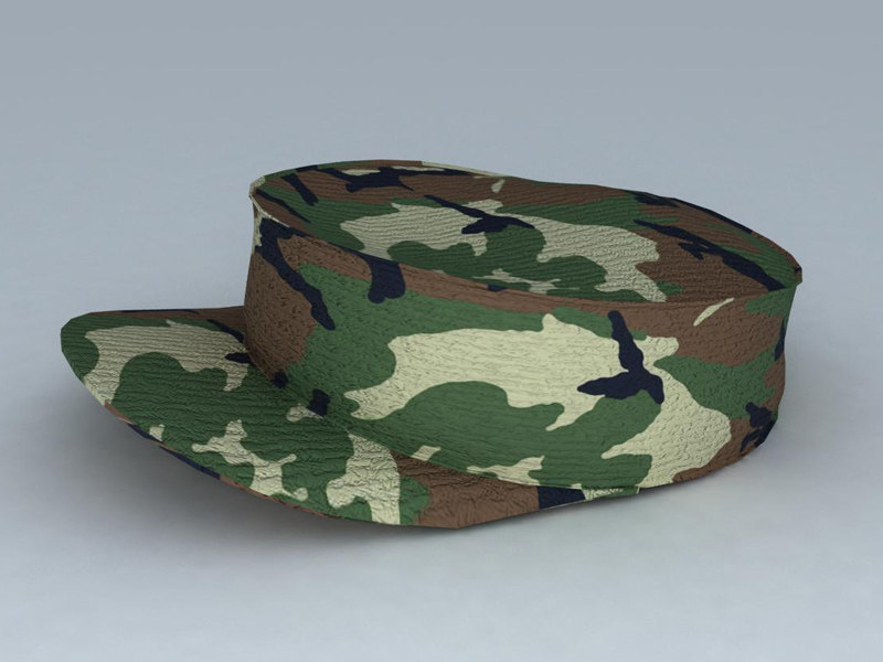 3dsmax military hat