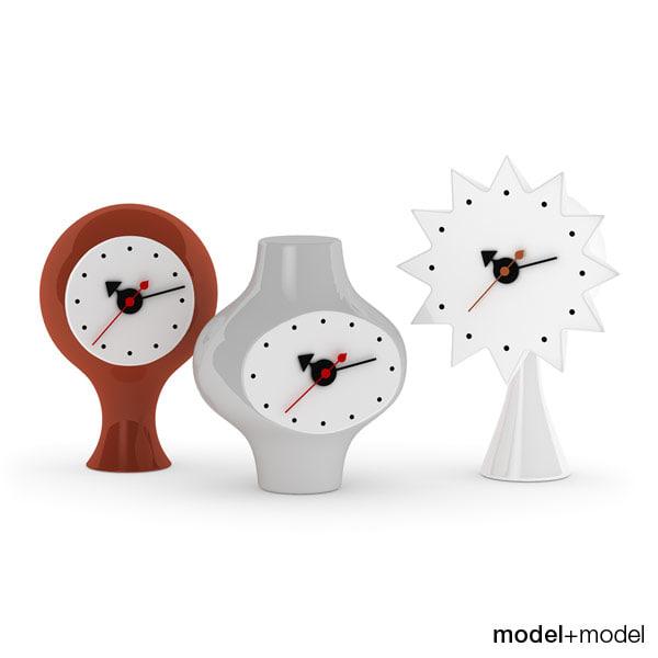 ceramic clocks vitra 3d model