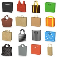 shopping bags 3d model