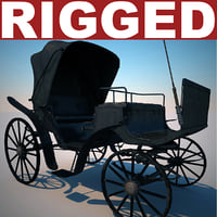 carriage v2 rigged 3d model