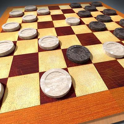 3ds max checkers board