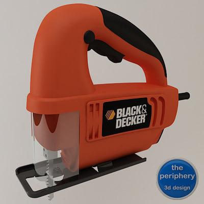 black decker handle jigsaw 3d model