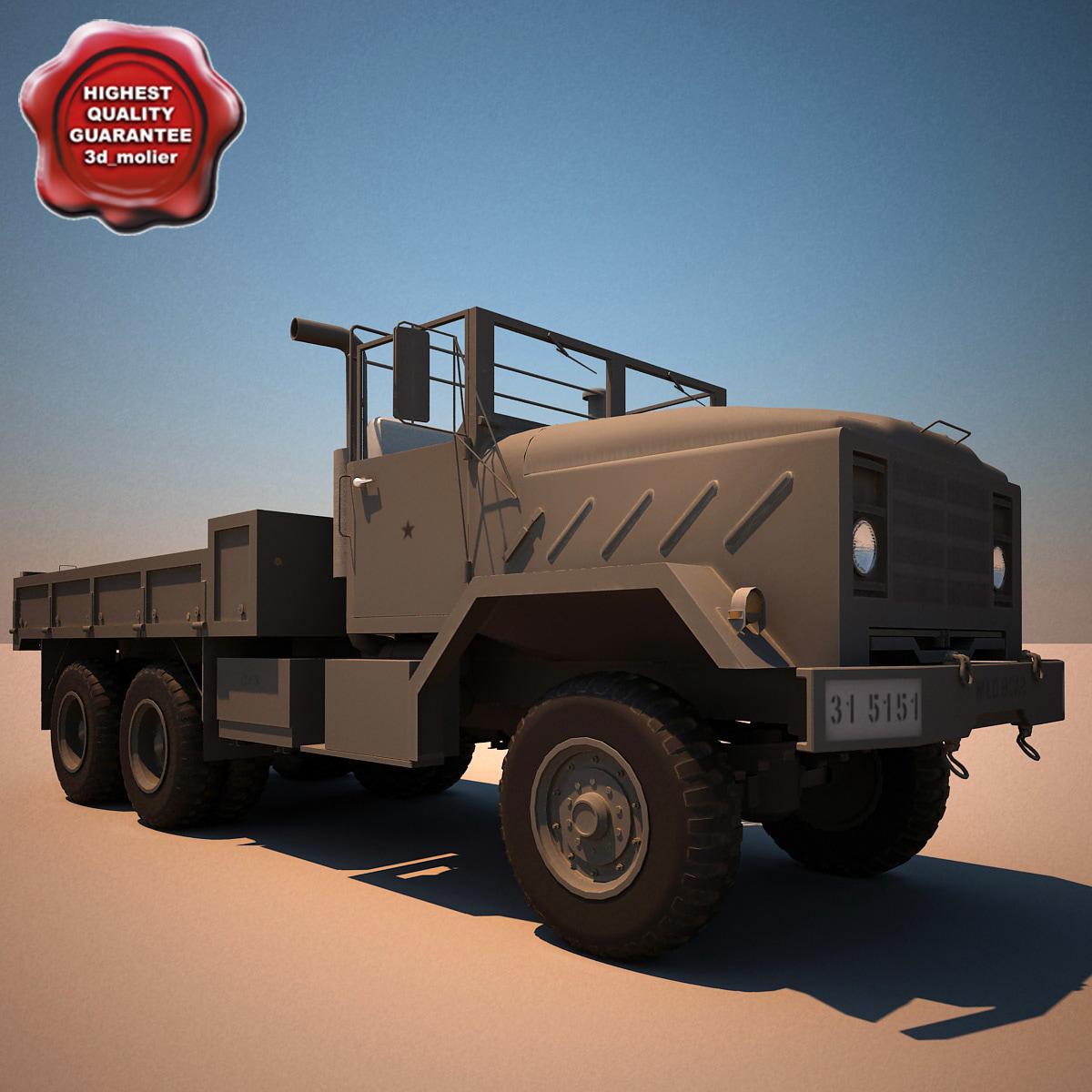 3d model m923 a1 cargo truck