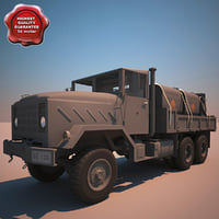 3d m923 a1 tank truck model