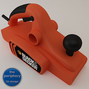 black decker electric planer 3d model
