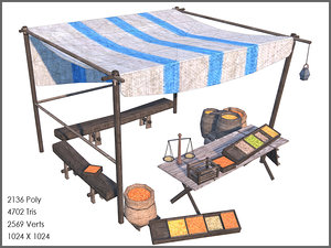 3d model spice stall