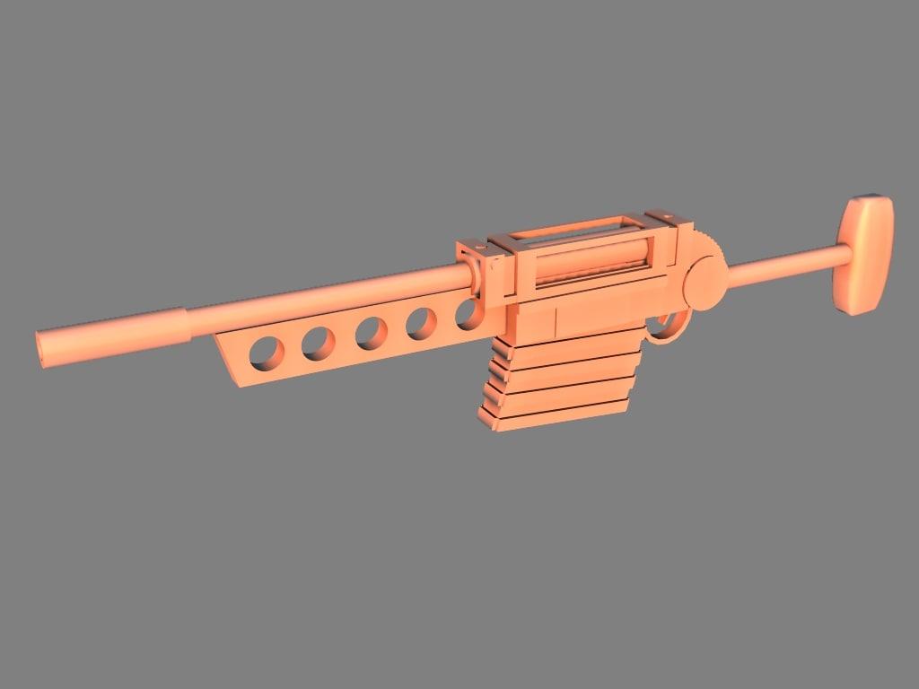 light combat rifle 3d model