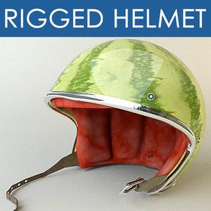motorbike helmet 3d model