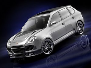 porsche cayenne 2005 turbo 3d model