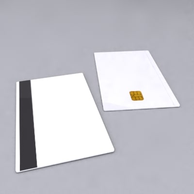 chip card 3d model