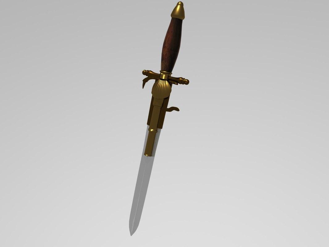 mystical dagger 3d model